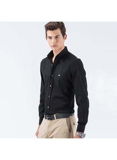 Lacoste Slim Fit Uzun Kollu Gömlek Siyah